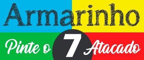Pinte o sete atacado logotipo